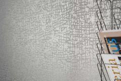 1763-01 cikkszámú tapéta.Absztrakt,különleges felületű,ezüst,gyöngyház,vlies tapéta