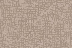1763-02 cikkszámú tapéta.Absztrakt,geometriai mintás,különleges felületű,metál-fényes,barna,vlies tapéta