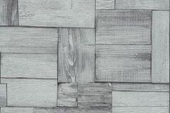 5819-01 cikkszámú tapéta.3d hatású,fa hatású-fa mintás,különleges felületű,rajzolt,retro,szürke,lemosható,vlies tapéta
