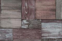5819-06 cikkszámú tapéta.3d hatású,csíkos,fa hatású-fa mintás,különleges felületű,rajzolt,retro,narancs-terrakotta,piros-bordó,szürke,lemosható,vlies tapéta