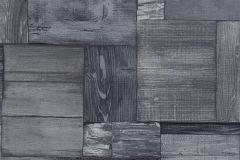 5819-08 cikkszámú tapéta.Fa hatású-fa mintás,különleges felületű,különleges motívumos,rajzolt,retro,kék,szürke,lemosható,vlies tapéta