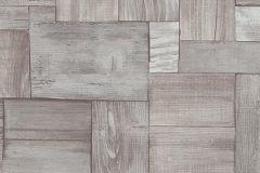 5819-11 cikkszámú tapéta.Absztrakt,fa hatású-fa mintás,különleges motívumos,rajzolt,retro,barna,bézs-drapp,ezüst,szürke,lemosható,vlies tapéta