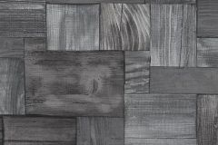 5819-15 cikkszámú tapéta.3d hatású,fa hatású-fa mintás,különleges motívumos,rajzolt,retro,barna,ezüst,szürke,lemosható,vlies tapéta