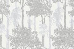 5965-15 cikkszámú tapéta.Fa hatású-fa mintás,különleges felületű,rajzolt,tájkép,természeti mintás,ezüst,fehér,szürke,lemosható,vlies tapéta
