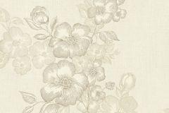 41002-20 cikkszámú tapéta.Különleges felületű,rajzolt,virágmintás,bézs-drapp,gyöngyház,gyengén mosható,vlies tapéta