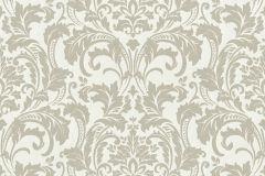 41005-10 cikkszámú tapéta.Barokk-klasszikus,különleges felületű,bézs-drapp,fehér,vlies tapéta