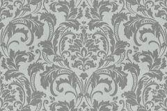 41005-20 cikkszámú tapéta.Barokk-klasszikus,különleges felületű,ezüst,szürke,vlies tapéta