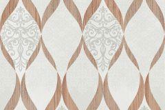 41006-30 cikkszámú tapéta.Barokk-klasszikus,csillámos,különleges felületű,bézs-drapp,ezüst,narancs-terrakotta,szürke,vlies tapéta