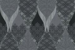 41006-40 cikkszámú tapéta.Barokk-klasszikus,csillámos,különleges felületű,fekete,szürke,vlies tapéta
