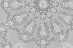 41007-20 cikkszámú tapéta.Csíkos,különleges felületű,különleges motívumos,ezüst,szürke,gyengén mosható,vlies tapéta
