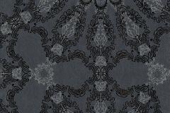 41007-30 cikkszámú tapéta.Csillámos,különleges felületű,különleges motívumos,fekete,szürke,gyengén mosható,vlies tapéta