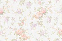 5825-05 cikkszámú tapéta.Barokk-klasszikus,gyerek,különleges felületű,természeti mintás,virágmintás,fehér,lila,pink-rózsaszín,vajszín,zöld,lemosható,vlies tapéta
