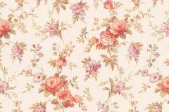 5825-06 cikkszámú tapéta.Barokk-klasszikus,gyerek,különleges felületű,természeti mintás,virágmintás,lila,narancs-terrakotta,vajszín,zöld,lemosható,vlies tapéta