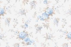 5825-08 cikkszámú tapéta.Barokk-klasszikus,gyerek,különleges felületű,természeti mintás,virágmintás,bézs-drapp,fehér,kék,zöld,lemosható,vlies tapéta