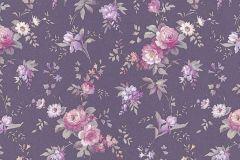 5825-45 cikkszámú tapéta.Barokk-klasszikus,gyerek,különleges felületű,természeti mintás,virágmintás,lila,pink-rózsaszín,sárga,zöld,lemosható,vlies tapéta