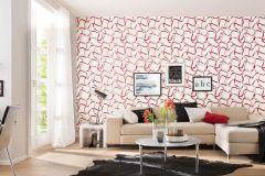 5939-06 cikkszámú tapéta.Absztrakt,különleges felületű,különleges motívumos,rajzolt,retro,fehér,piros-bordó,szürke,lemosható,vlies tapéta