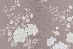 5989-49 cikkszámú tapéta.Barokk-klasszikus,különleges felületű,természeti mintás,virágmintás,barna,bézs-drapp,ezüst,kék,lemosható,vlies tapéta