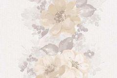 6427-02 cikkszámú tapéta.Rajzolt,retro,természeti mintás,virágmintás,barna,bézs-drapp,szürke,vajszín,lemosható,illesztés mentes,vlies tapéta