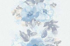 6427-08 cikkszámú tapéta.Különleges felületű,rajzolt,retro,természeti mintás,virágmintás,bézs-drapp,kék,szürke,lemosható,illesztés mentes,vlies tapéta
