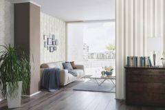 6457-02 cikkszámú tapéta.Csíkos,különleges felületű,rajzolt,barna,bézs-drapp,vajszínű,lemosható,illesztés mentes,vlies tapéta