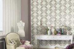 6461-02 cikkszámú tapéta.Barokk-klasszikus,különleges felületű,különleges motívumos,barna,bézs-drapp,lemosható,vlies tapéta