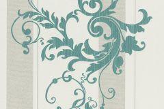 6858-36 cikkszámú tapéta.Barokk-klasszikus,különleges felületű,bézs-drapp,kék,szürke,lemosható,illesztés mentes,vlies tapéta