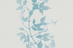 6926-18 cikkszámú tapéta.Különleges felületű,rajzolt,retro,természeti mintás,virágmintás,fehér,kék,türkiz,lemosható,illesztés mentes,vlies tapéta