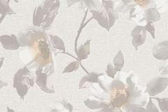 6982-02 cikkszámú tapéta.Különleges felületű,rajzolt,retro,természeti mintás,virágmintás,barna,bézs-drapp,ezüst,fehér,szürke,lemosható,vlies tapéta