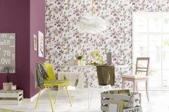 6982-09 cikkszámú tapéta.Különleges felületű,rajzolt,retro,természeti mintás,virágmintás,barna,bézs-drapp,ezüst,fehér,lila,narancs-terrakotta,piros-bordó,szürke,lemosható,vlies tapéta