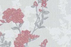 6990-06 cikkszámú tapéta.Különleges felületű,rajzolt,retro,természeti mintás,virágmintás,fehér,narancs-terrakotta,piros-bordó,szürke,lemosható,vlies tapéta