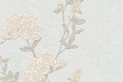 6990-14 cikkszámú tapéta.Rajzolt,retro,természeti mintás,virágmintás,szürke,vajszínű,zöld,lemosható,vlies tapéta