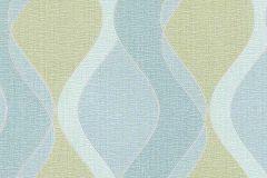 6995-18 cikkszámú tapéta.Absztrakt,geometriai mintás,különleges felületű,különleges motívumos,rajzolt,retro,ezüst,kék,zöld,lemosható,vlies tapéta
