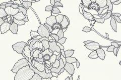5403-10 cikkszámú tapéta.Különleges felületű,virágmintás,ezüst,fehér,szürke,lemosható,vlies tapéta