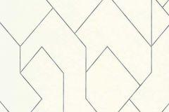 5417-01 cikkszámú tapéta.Absztrakt,geometriai mintás,különleges felületű,fehér,szürke,lemosható,vlies tapéta