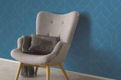 5417-08 cikkszámú tapéta.Absztrakt,geometriai mintás,különleges felületű,kék,lemosható,vlies tapéta