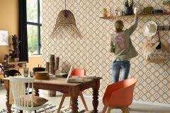 5411-03 cikkszámú tapéta.Absztrakt,különleges felületű,különleges motívumos,textilmintás,fekete,narancs-terrakotta,pink-rózsaszín,szürke,lemosható,vlies tapéta