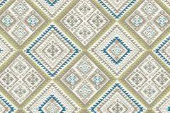 5411-19 cikkszámú tapéta.Absztrakt,különleges felületű,különleges motívumos,textilmintás,barna,fehér,kék,szürke,zöld,lemosható,vlies tapéta
