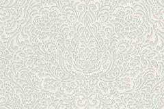 5413-01 cikkszámú tapéta.Barokk-klasszikus,különleges felületű,különleges motívumos,ezüst,fehér,lemosható,vlies tapéta