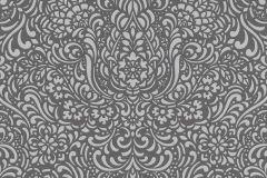 5413-10 cikkszámú tapéta.Barokk-klasszikus,csillámos,különleges felületű,különleges motívumos,ezüst,szürke,lemosható,vlies tapéta