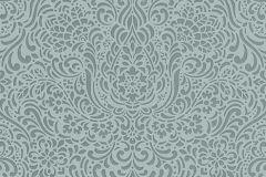5413-19 cikkszámú tapéta.Barokk-klasszikus,különleges felületű,különleges motívumos,türkiz,zöld,lemosható,vlies tapéta