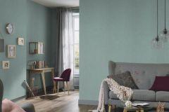 5414-19 cikkszámú tapéta.Egyszínű,különleges felületű,textilmintás,türkiz,zöld,lemosható,illesztés mentes,vlies tapéta