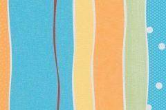 7351-18 cikkszámú tapéta.Pöttyös,csíkos,gyerek,kék,narancs-terrakotta,piros-bordó,sárga,zöld,gyengén mosható,illesztés mentes,papír tapéta