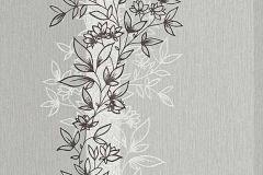6471-10 cikkszámú tapéta.Dekor,természeti mintás,virágmintás,ezüst,szürke,lemosható,illesztés mentes,vlies tapéta