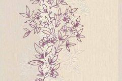 6471-45 cikkszámú tapéta.Dekor,természeti mintás,virágmintás,bézs-drapp,lila,lemosható,illesztés mentes,vlies tapéta