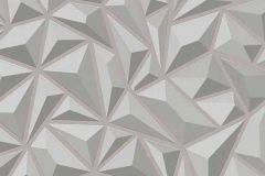 6478-15 cikkszámú tapéta.3d hatású,absztrakt,geometriai mintás,különleges felületű,különleges motívumos,ezüst,szürke,lemosható,vlies tapéta