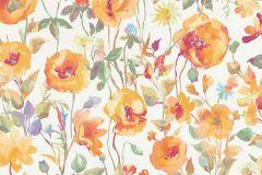 6330-04 cikkszámú tapéta.Különleges motívumos,rajzolt,természeti mintás,virágmintás,fehér,kék,lila,narancs-terrakotta,piros-bordó,szürke,zöld,lemosható,vlies tapéta