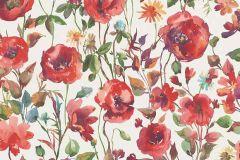 6330-06 cikkszámú tapéta.Különleges motívumos,rajzolt,természeti mintás,virágmintás,fehér,kék,piros-bordó,zöld,lemosható,vlies tapéta