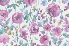 6330-21 cikkszámú tapéta.Különleges motívumos,természeti mintás,virágmintás,fehér,kék,lila,zöld,lemosható,vlies tapéta