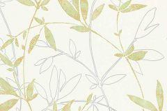 6499-07 cikkszámú tapéta.Különleges felületű,rajzolt,retro,természeti mintás,fehér,szürke,zöld,lemosható,vlies tapéta
