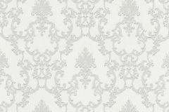 6376-01 cikkszámú tapéta.Barokk-klasszikus,csillámos,különleges felületű,fehér,szürke,lemosható,vlies tapéta